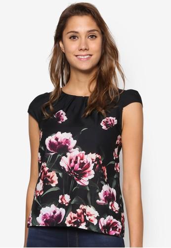 Billie &ampesprit 品牌; Blossom: 花卉印花蓋袖上衣, 服飾, 上衣