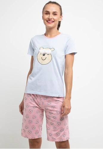 Puppy pink and blue Pyjama Pijama Short Sleeve Short Pants Sleepwear 876A6AAC3CED61GS_1