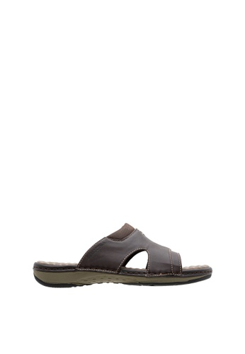 SEMBONIA brown SEMBONIA Men Synthetic Leather Sandal (Dark Brown) SE598SH0SZ8FMY_1