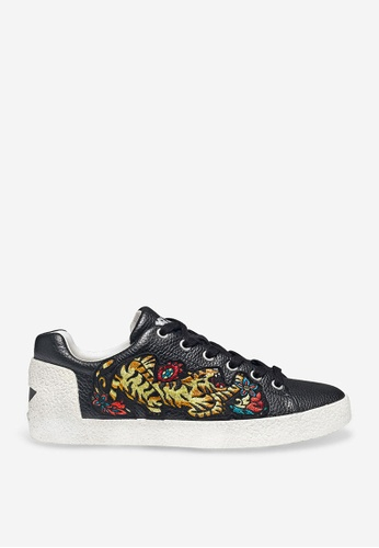 ASH black Niagara - Black Embroidered Patch Sneakers 47956SH2EA636CGS_1