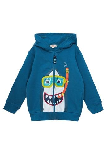 Du Pareil Au Même (DPAM) blue Shark Hoodie 81213KA5E77F9CGS_1