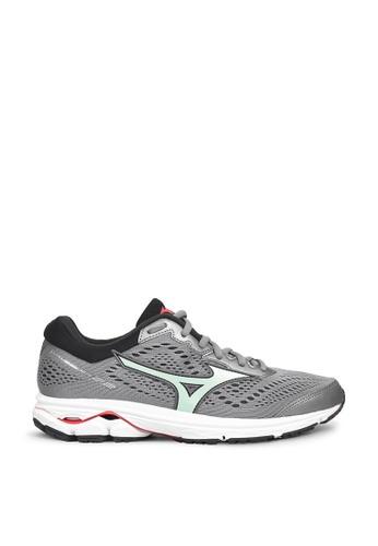 Mizuno grey Wave Rider 22 Running Shoes 14A5CSH1DEB532GS_1