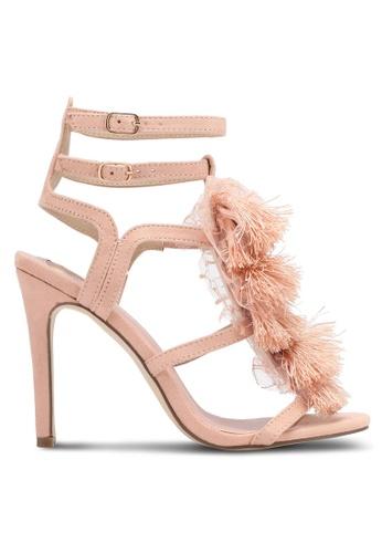 Velvet pink Lace Detail Heels 909C0SH7B99A70GS_1