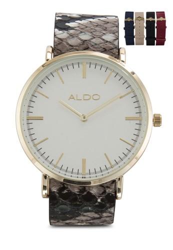 Guitron 簡約皮革圓錶, zalora 評價錶類, 飾品配件