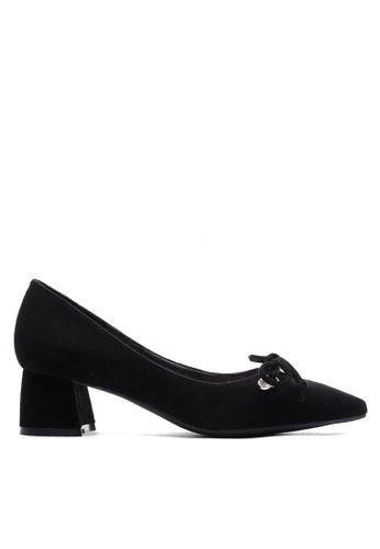 Twenty Eight Shoes black Rhinestone & Bow Mid Heel Pumps VL99913 B15B9SH2449F93GS_1