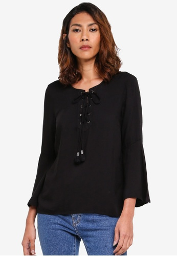 OVS black Long Sleeves Blouse A0980AA1C90129GS_1