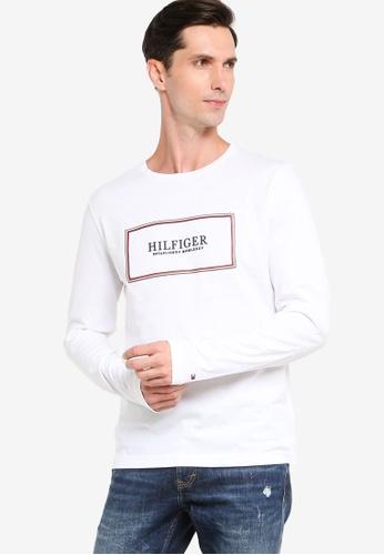 Tommy Hilfiger 白色 Box LOGO印花T恤 A3E61AA3A2F3DCGS_1