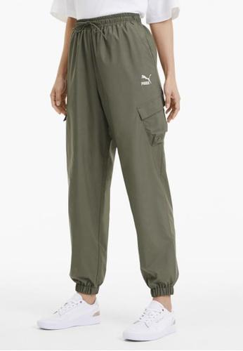 puma green Classics Utility Woven Women's Pants 3EB12AAF24F5C0GS_1