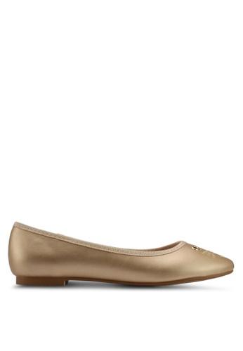 Velvet gold Mouse Detail Ballerina BD91BSH1C87556GS_1