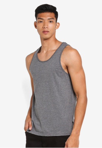 Burton Menswear London grey Charcoal Grey Vest 01DB0AAB770F31GS_1