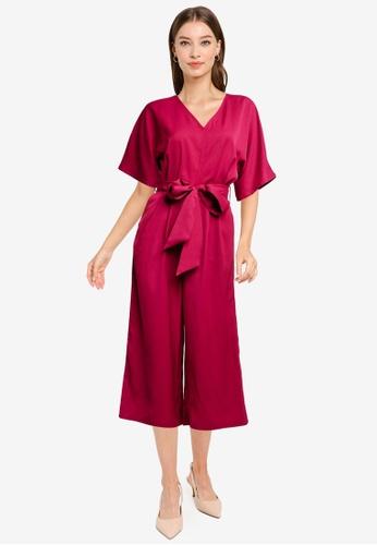 ZALORA WORK red Kimono Sleeves Jumpsuit FD008AAF004564GS_1