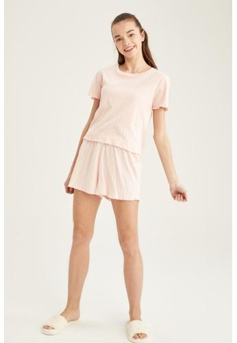 DeFacto pink Woman 2-pieces Homewear Top & Bottom Set 5B043AA7932F6FGS_1