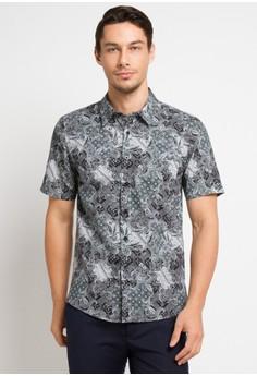 157789eb7be BRITANIA black and multi and grey Short Sleeve Print Shirt 9314  8BC36AA2B1C8AAGS 1