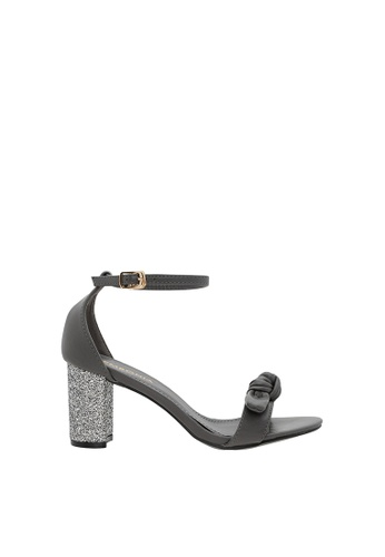 SEMBONIA grey Women Synthetic Leather Heeled Sandal 9A646SHA55487CGS_1