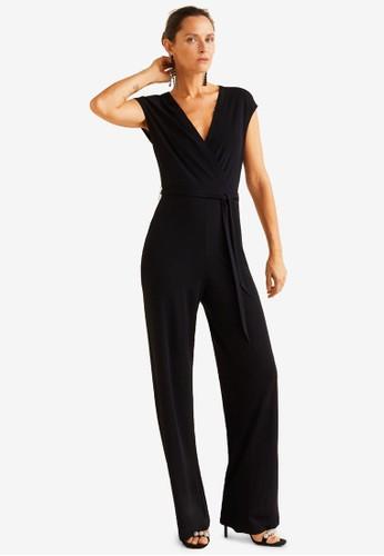 Mango black Bow Long Jumpsuit 9E768AAEEF5DEDGS_1