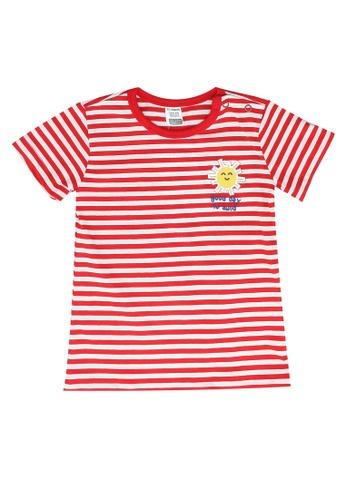 LC Waikiki red Stripe Cotton T-Shirt DF77DKA061E476GS_1