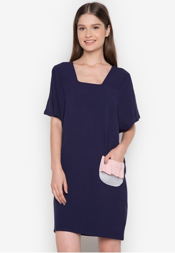 NEW ESSENTIALS navy Ivar Aseron Pocket Dress NE239AA0JD2MPH_1