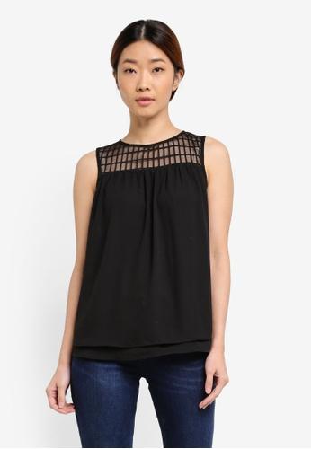 Esprit black Sleeveless Top ES374AA0SEOOMY_1