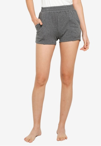 UniqTee grey Comfort Shorts with Elastic Waistband 199BFAA80297BEGS_1