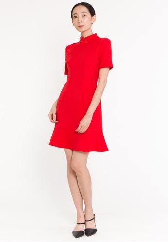BEBEBUTTERFLY BebeButterfly Women's MIni Short-sleeved Dress Improved Cheongsam E4ADBAAF8B54C8GS_1