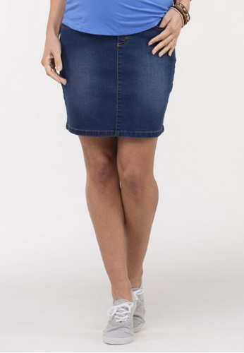 Bove by Spring Maternity blue Woven Wendy Denim Skirt ED849AAC499883GS_1