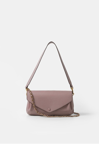 Rabeanco pink RABEANCO RIC Chain Clutch - Nude Pink 30A10AC752A03BGS_1