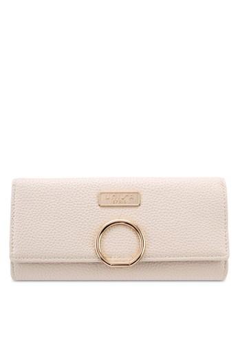 Unisa beige Pebbled Texture Bi-Fold Ladies Wallet 8F1C3AC9AE2B0EGS_1