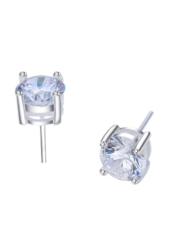 SC Tom Silver silver Stud Stone Earring SC872AC20FFVPH_1