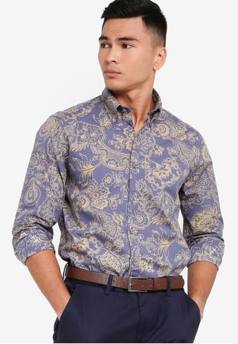 Brooks Brothers blue Mens Woven Shirt DA7D9AA88BA339GS_1