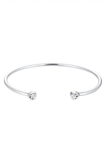 Elli Germany silver  Perhiasan Wanita Perak Asli - Silver Bangle Basic Swarovski® Crystal Silver 773B4AC36CB2B8GS_1