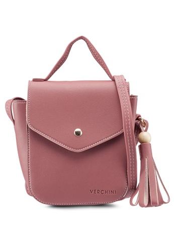 Verchini pink The Square Sling Bag 1ED8EAC8AF3FC9GS_1