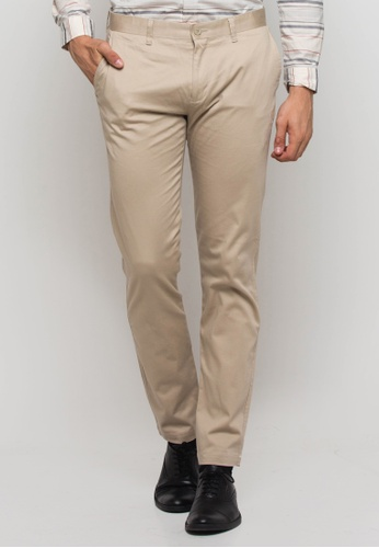 The Executive beige Cotton Khaki Pants TH044AA0SICCMY_1