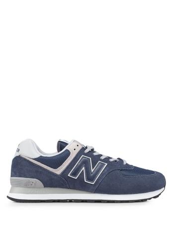 New Balance black 574 Lifestyle Core Shoes 18C47SHBA8F75EGS_1