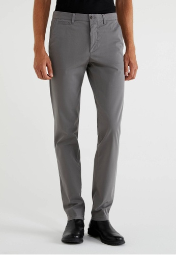 United Colors of Benetton grey Stretch Slim Fit Chinos F0B3EAAC94A377GS_1