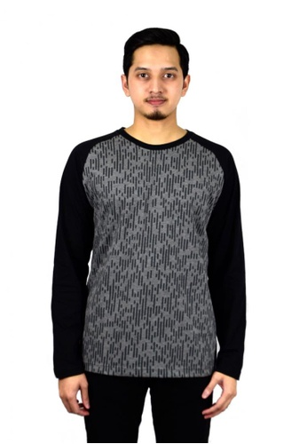 Antioni grey ANTIONI Men Round Neck Tee L/S (DK. GREY) BAE3FAABFDEE6AGS_1