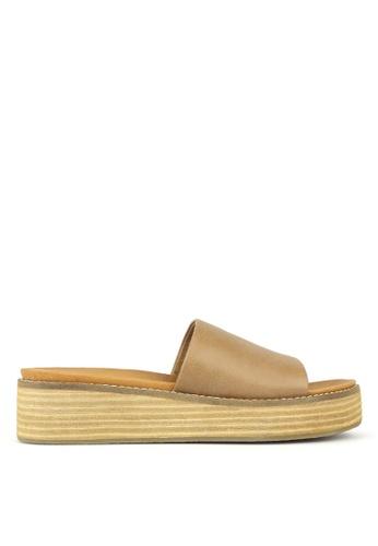 0ba56b2589b Betts brown Revolve Slip On Wedge Sandals A6C5ASHC42D177GS 1