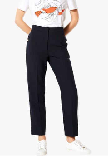 MARKS & SPENCER navy Evie Straight 7/8Th Trousers DF3D3AA4724CECGS_1