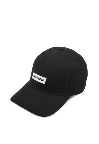 Converse black One Word One Court Baseball Cap CO302AC0SW5VMY_1