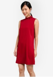 ZALORA red Embellished Shift Dress 25B8AZZCFDD533GS_1