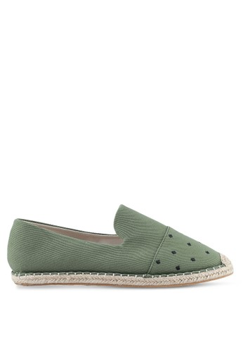 JAXON green Embroidered Canvas Espadrilles 83796SHCE55220GS_1