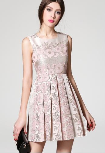 Sunnydaysweety pink Flower Pattern One Piece Vest Dress Ca062148v SU219AA78JWBSG_1