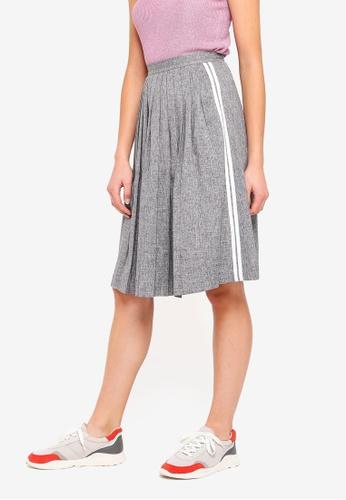 Hopeshow grey Flared Mid Thigh Skirt B6D3CAA13E73ADGS_1