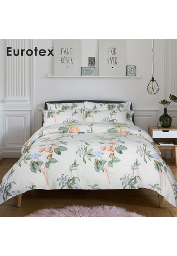 Eurotex Eurotex Contemporary, 900 Thread Count 100% Cotton, Fitted Bedsheet Set (without Quilt Cover) - Lara B49FBHLD9BB45AGS_1