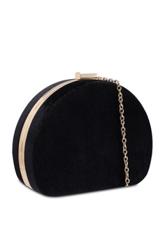 50% OFF Dorothy Perkins Black Half Moon Box Clutch RM 159.00 NOW RM 79.50 Sizes One Size