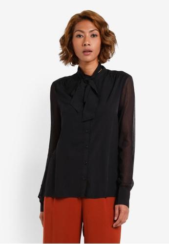 Vero Moda black Alive Long Sleeve Shirt VE975AA0S41OMY_1