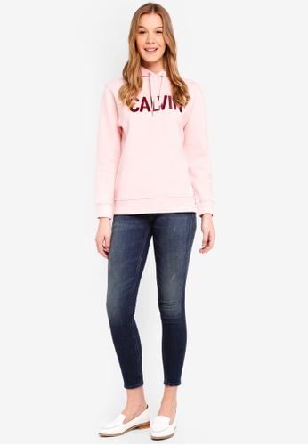Calvin Klein pink and multi Calvin Logo Hoodie - Calvin Klein Jeans 70C20AACE8CA72GS_1