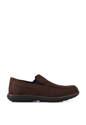 Timberland brown Edgemont Moc Toe Slip Ons 793CASH770AE98GS_1