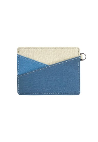 Klosh blue and navy Genuine Leather RFID Card Case (Dark and Sky Blue) 0027EACD2DCAF0GS_1