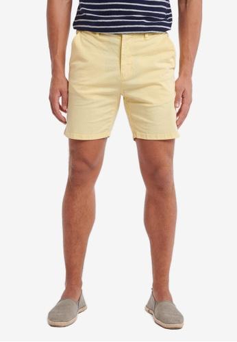 Shiwi yellow Stretch Cotton Shorts DC281AA7CEF439GS_1