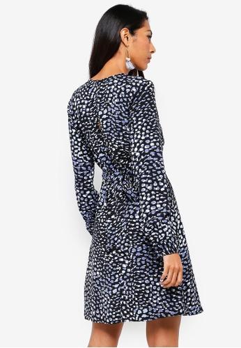 bf1c50f399 Buy WAREHOUSE Brushed Animal Print Dress Online on ZALORA Singapore